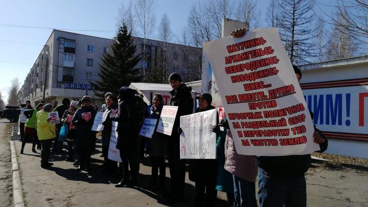 В Северодвинске прошел массовый пикет против полигона ТБО и началась бессрочная акция протеста