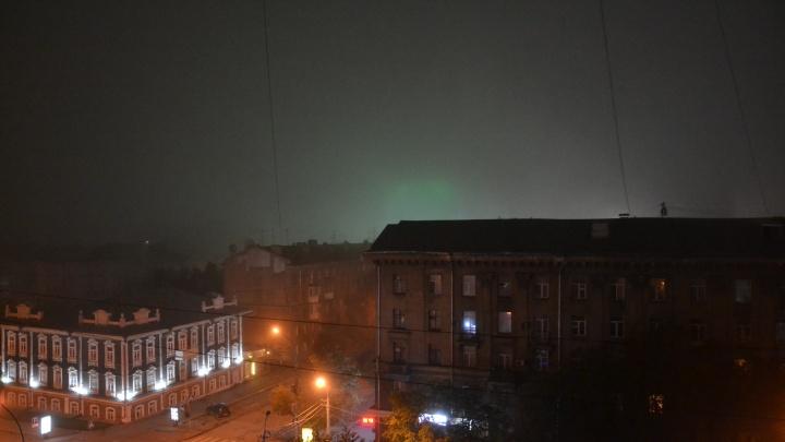 Ночью на Новосибирск опустился густой туман