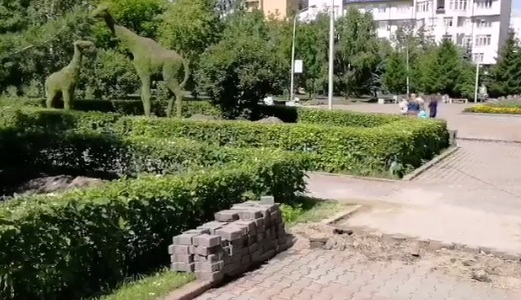 Началась реконструкция сквера Сурикова и площади Революции. Что изменится?