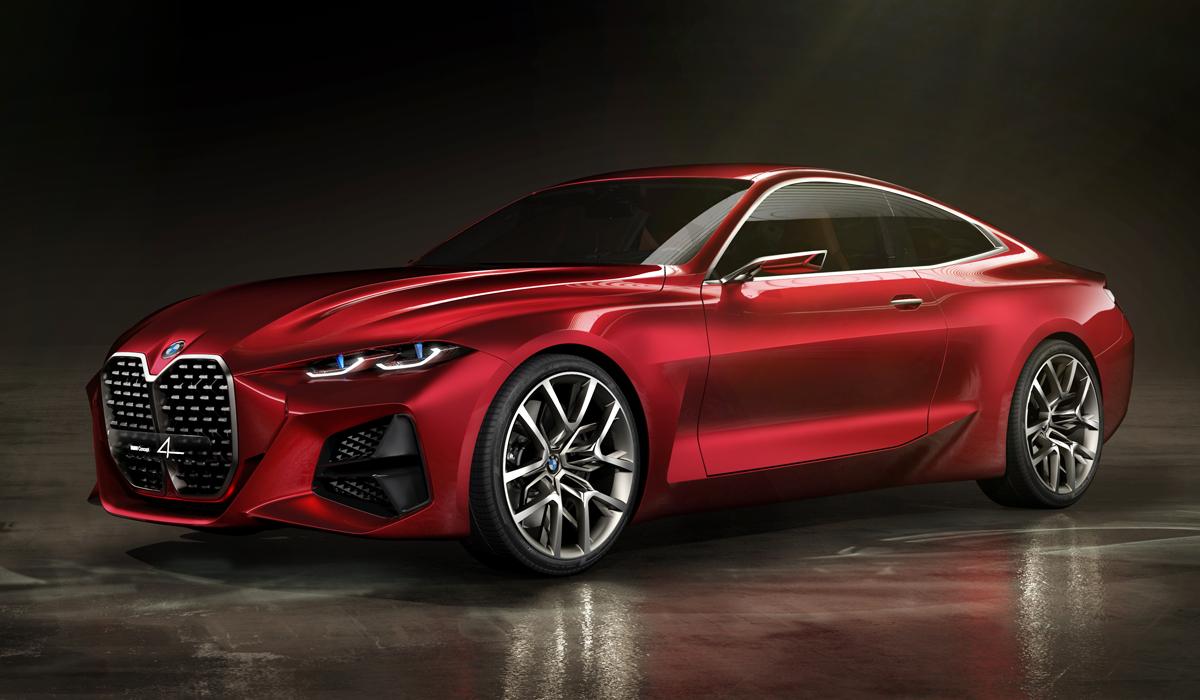 BMW Concept 4 намекает на облик будущего купе 4-й серии, но внимание поклонников марки опять сфокусировано на оформлении передней части: каждая новый концепт BMW стремится переплюнуть предыдущий по размеру ноздрей