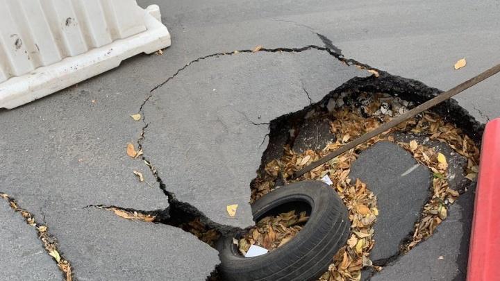 «Прикрыли — и ладно»: провалы на самарских дорогах не устраняют неделями