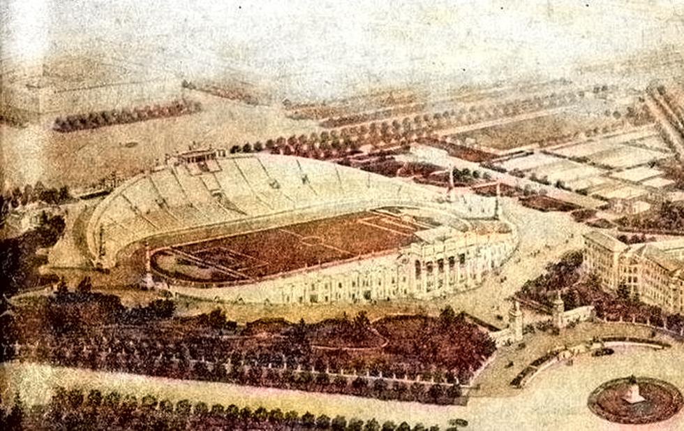 Проект Центрального стадиона начала 1950-х годов
