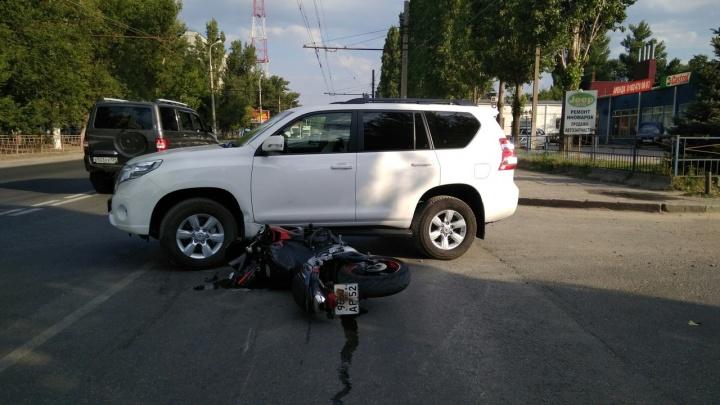 В Волгограде за день в авариях пострадали два байкера