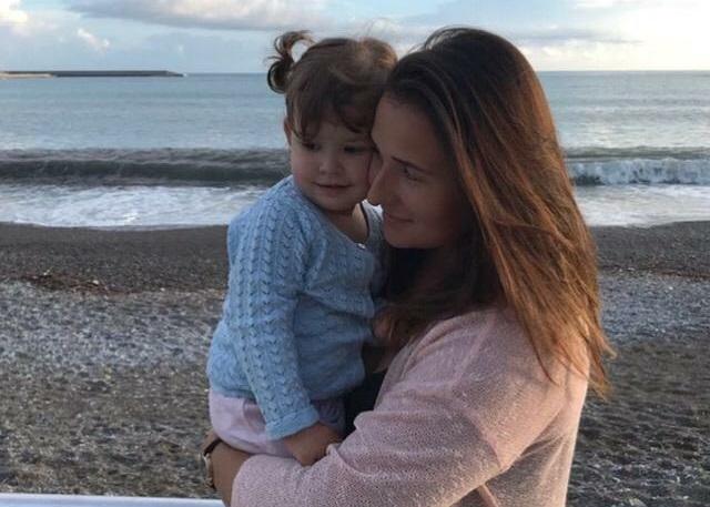 Дарья Ди Сальвио с дочкой Софией