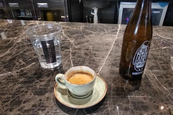 Пустую бутылку можно обменять на горячие напитки стоимостью от 90 до 170 рублей