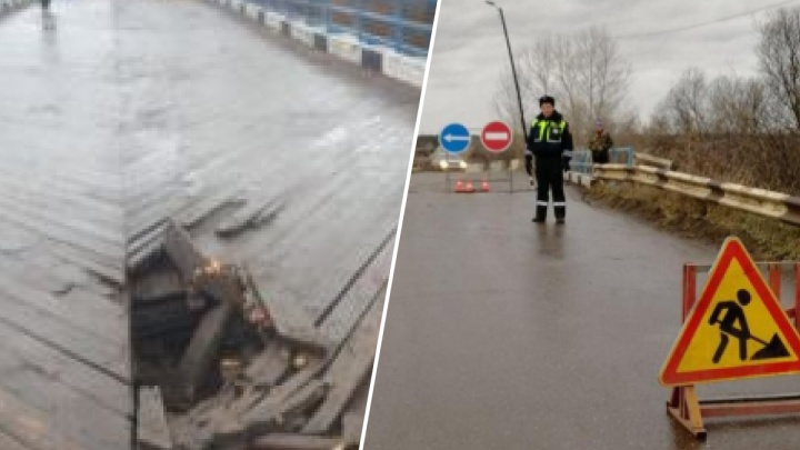 В Канске разрушился деревянный мост. Движение перекрыто для грузовиков и автобусов