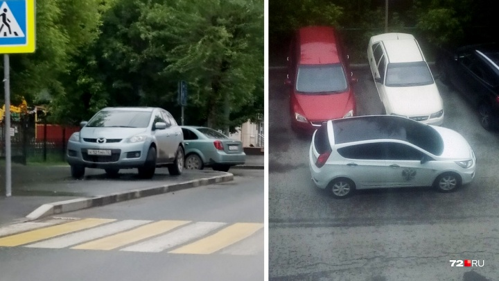 «Я паркуюсь, как...»: автохам у перехода на улице Котовского и водители, не думающие о других