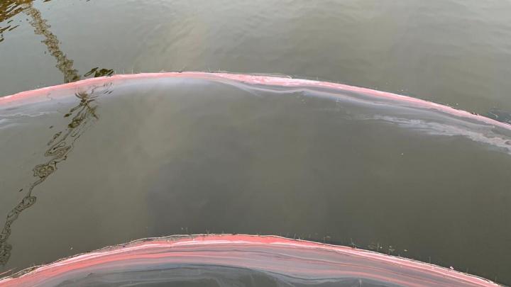 В мэрии рассказали, откуда взялись пятна краски на Исети