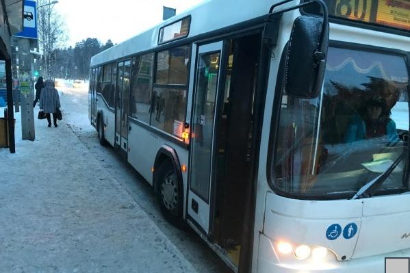 Водитель автобуса не успел затормозить и наехал на женщину