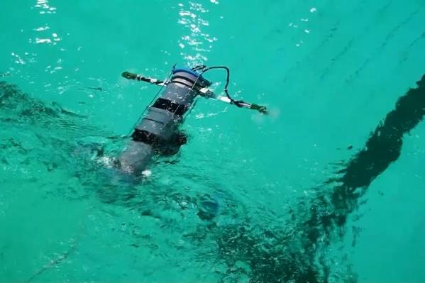 Во время второго тестового запуска квадрокоптер опустился на глубину 5 метров