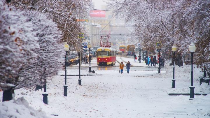 Снег, который будет сыпать в Екатеринбурге в начале недели, к выходным растает