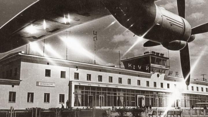 К самолету — пешком: самарский краевед показал фото аэропорта Курумоч 50-летней давности