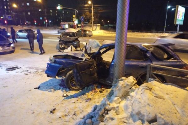 Subaru получил значительные повреждения