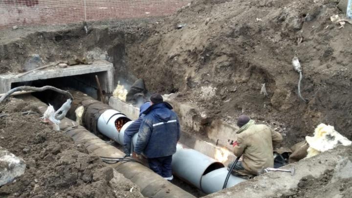 В Ростове больше 30 домов остались без горячей воды из-за аварии на теплотрассе