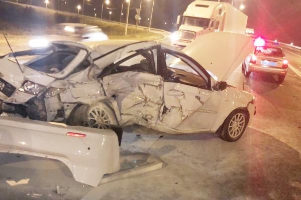 Водитель иномарки получил смертельные травмы