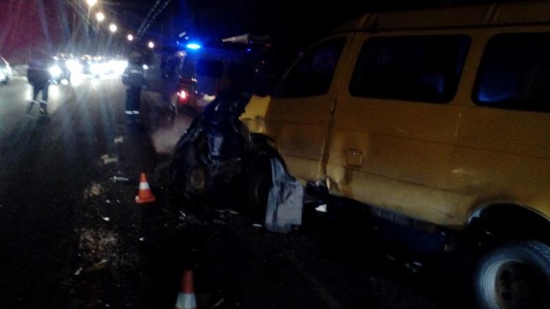 Виновник январской аварии с маршруткой погиб на месте