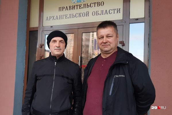 Генеральные директора двух компаний, которые заявились на конкурс, — Анатолий Назаров (ООО «ЭкоИнтегратор») и Павел Свистак (ООО «Геракл»)