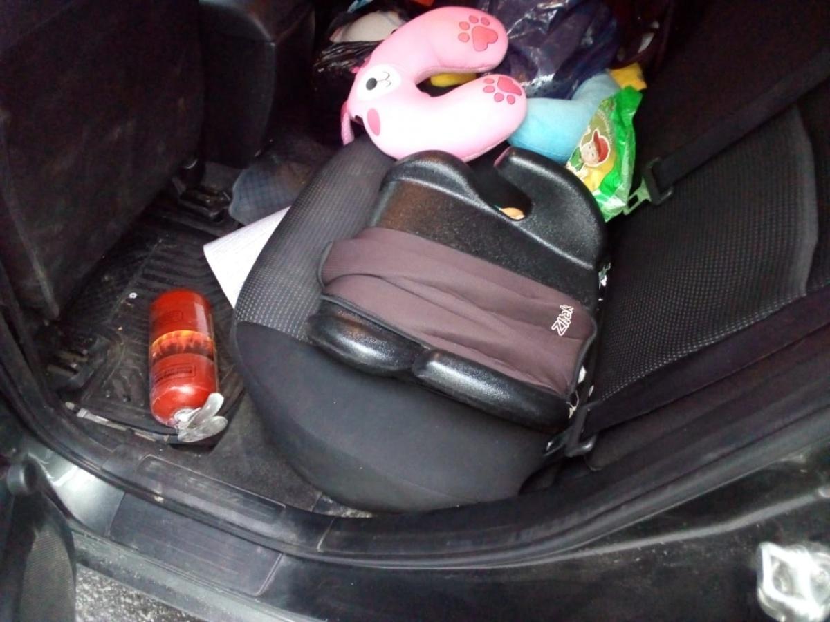 От серьезных травм мальчика в Mazda спас бустер
