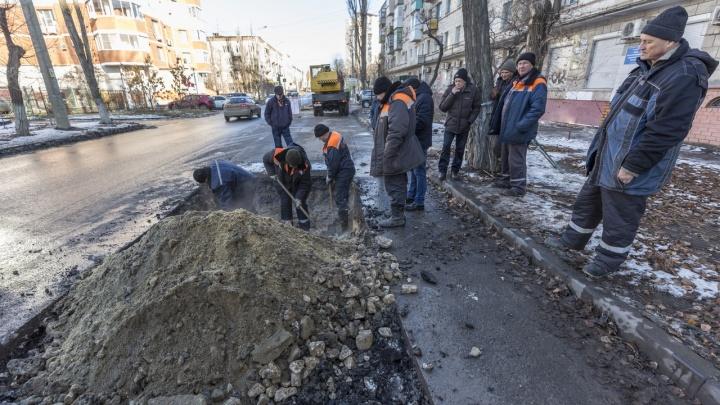 Скоро потеплеет: в Волгограде ликвидировали прорыв на теплосетях