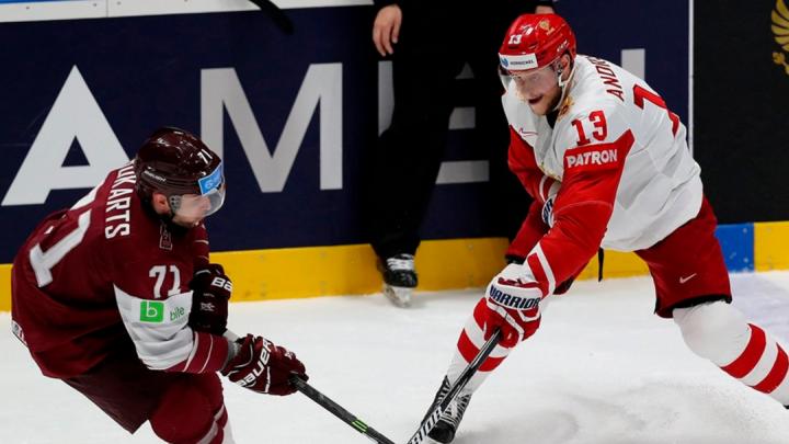 Сборная России обыграла Латвию и вышла в плей-офф чемпионата мира по хоккею