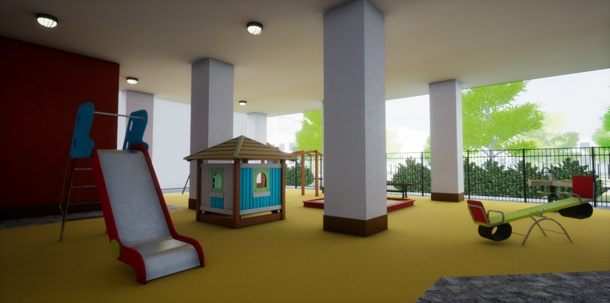 В «Доме на Опалихинской» будет уникальная крытая детская площадка