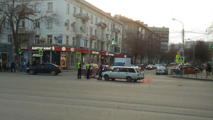 В Уфе водитель на «четверке» сбил велосипедиста