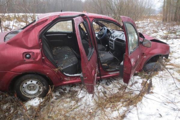 В Пошехонском районе в ДТП пострадал водитель