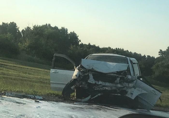 Авария случилась на Ордынском шоссе