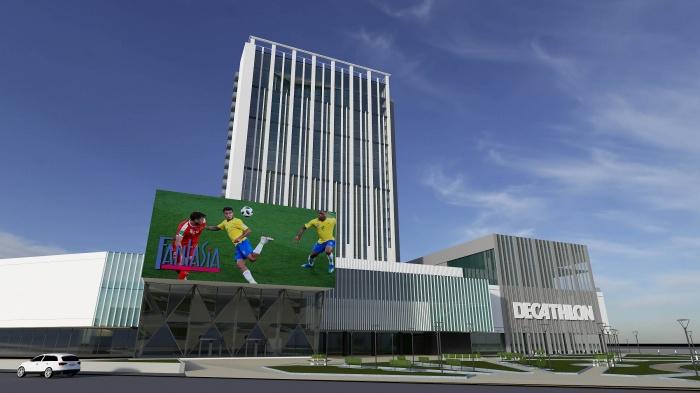 Проект нового фасада здания