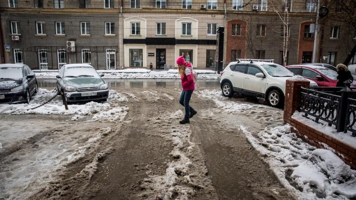 Снова утонем: в Новосибирск идет оттепель — синоптики пообещали плюс