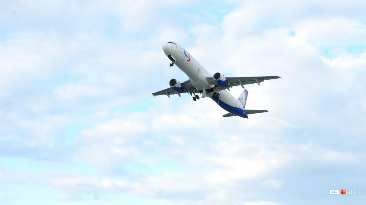 Самолёт с екатеринбуржцами, летевшими на юг, развернули в небе над Уфой из-за поломки