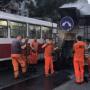 Зальют по самые рельсы: на улице Победы начали ремонтировать трамвайные пути