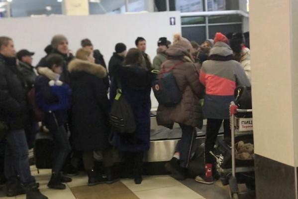 Сегодня пассажиры 5 рейсов не могли вовремя получить свой багаж в аэропорту