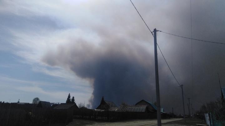 В Зауралье из-за пожаров эвакуируют людей из Иковки