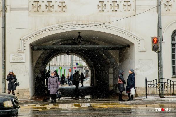 Всё случилось в арке в центре города