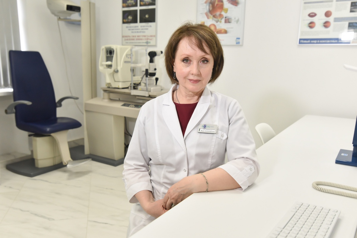 В «Фокусе» обновили и кабинет врача: здесь принимает Вера Александровна Семенова — офтальмолог с опытом работы 35 лет