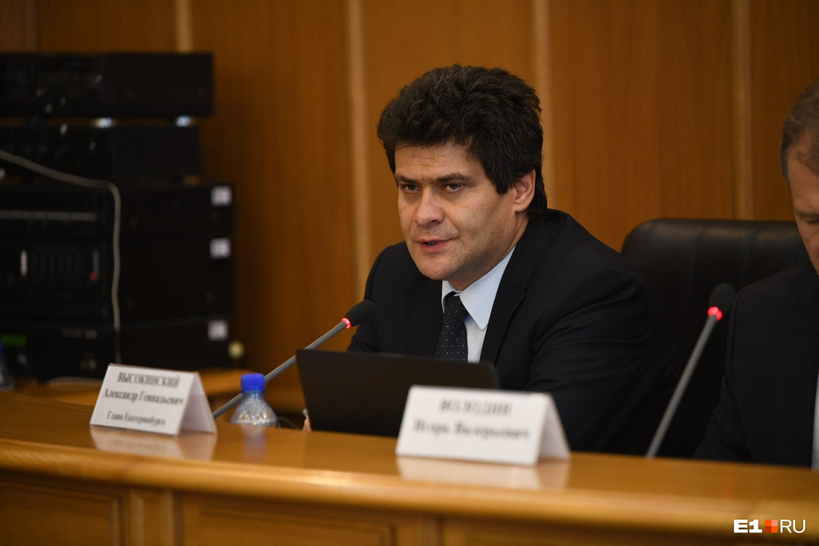 Мэр Александр Высокинский на заседании