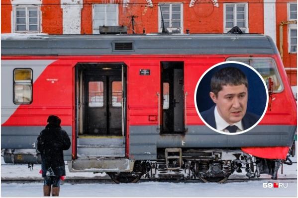 На станции Дмитрий Махонин пообщался с пассажирами электрички