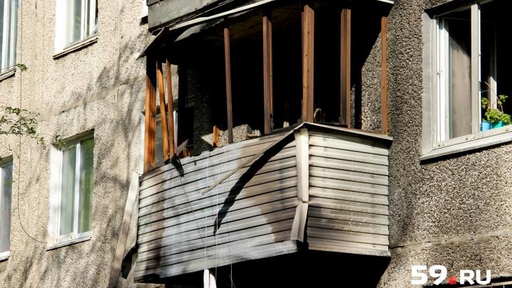 В Перми начали восстанавливать разрушенный взрывом газа дом на улице Свиязева