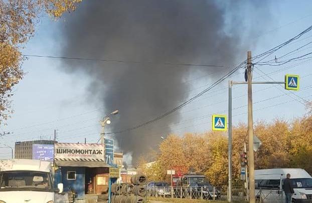 Сажу несёт на город: из-за пожара на Богдашке зафиксирован всплеск загрязнения воздуха