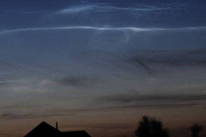 Облака возможно наблюдать на широтах от 45 до 70 градусов