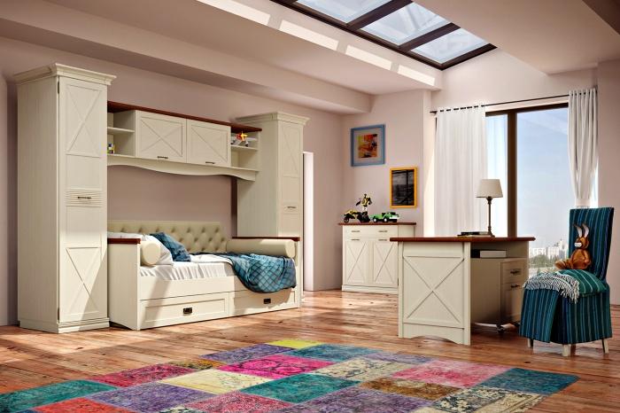 Спокойные оттенки с яркими акцентами — лучшее цветовое решение для комнаты ребенка любого пола