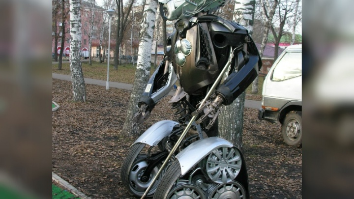 В парке Стерлитамака установили необычного робота