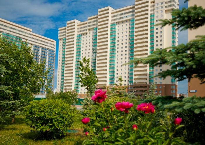 70-метровые двухкомнатные квартиры расположены в жилом комплексе «Миллениум» на Юго-Западе