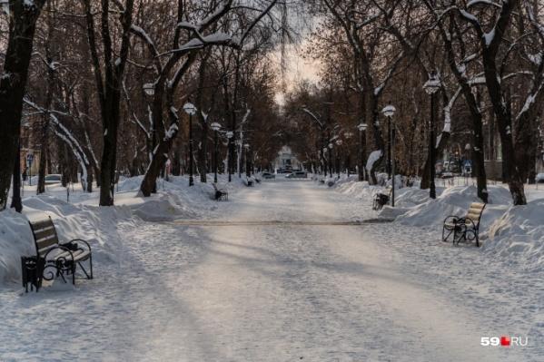 На этой неделе будет небольшое потепление со снегопадом