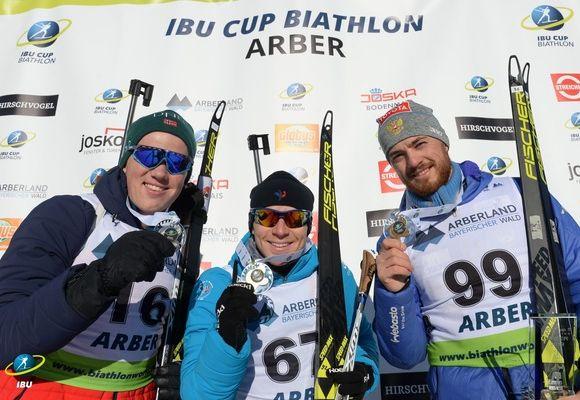 Уфимец Антон Бабиков в пятый раз взобрался на пьедестална этапах Кубка IBU в Германии