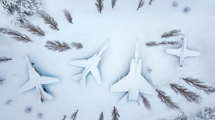Фото дня. Самолеты замаскировались в Нижнем Новгороде