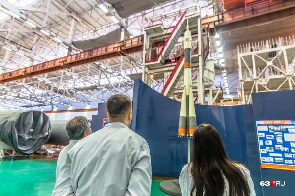 Сейчас на заводе делают ракеты «Союз»