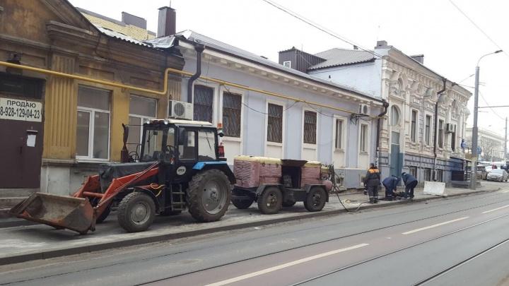 В Ростове начался ремонт тротуара на улице Станиславского