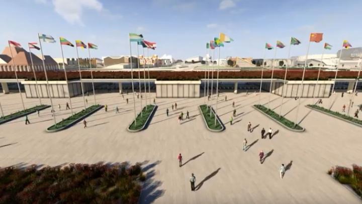 «Экспо-2025» вживую: смотрим ролик-полёт по будущему выставочному городу на Визовском пруду